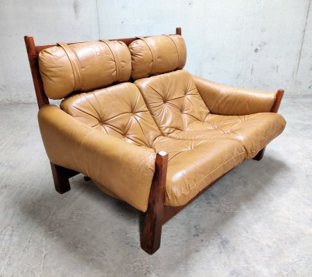 Jean Gillon 2 seater leather sofa for Woodart Brasil