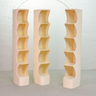 White Totem Shelf Units by Valeric Doubroucinskis for Rodier, France 1973