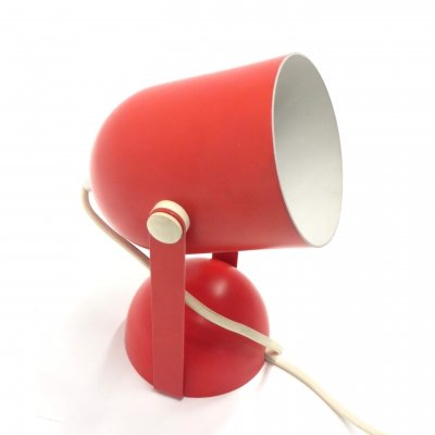 Vintage red adjustable wall lamp, 1970s