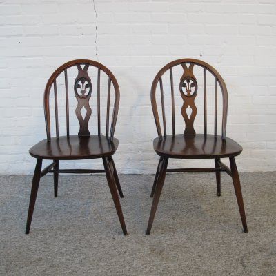 Pair of Ercol Lucian Ercolani dining chairs, 1960s