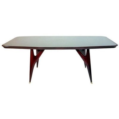Midcentury Mahogany Dining Table by Vittorio Dassi, Italy