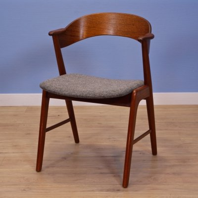 Danish dining chair in teak by Kai Kristiansen for Korup Stolefabrik, 1960s