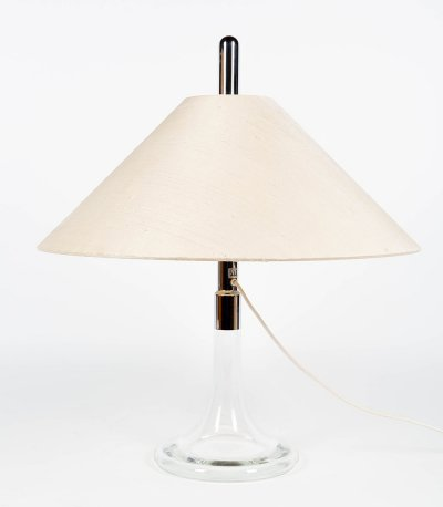 Ingo Maurer Table lamp made of glass & chromed steel, 1960s