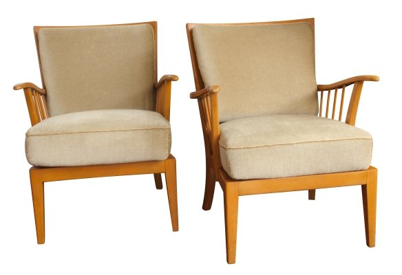 Pair of Knoll Antimott Armchairs, 1950s