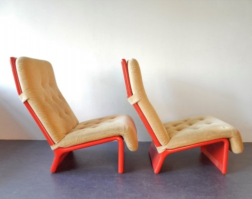 Set of 2 rare lounge chairs for Cado, Denmark 1960's