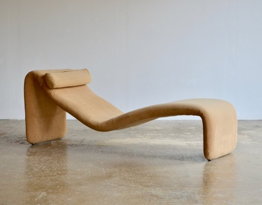 1960's Olivier Mourgue 'Djinn' chaise lounge