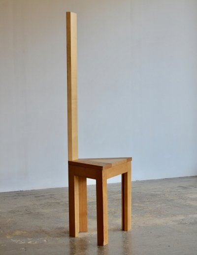 Oak postmodern chair, 1980s