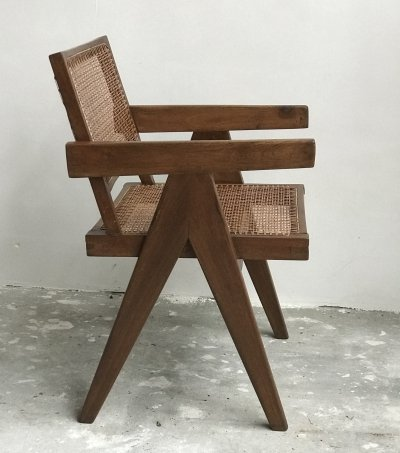Chandigarh Office cane chair by Pierre Jeanneret, 1950s