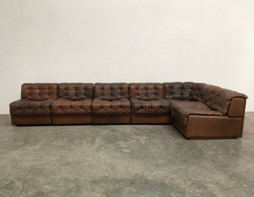 De Sede DS11 patchwork sectional sofa, 1970s