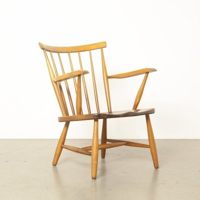 Gelderland spindle back chair, 1950s