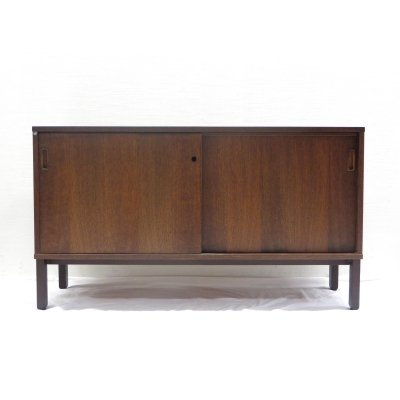 Vintage sideboard with sliding doors, 1960s