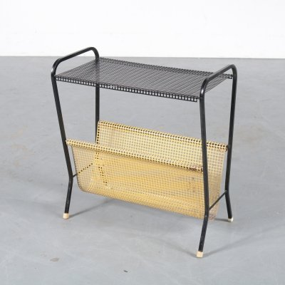 Metal magazine rack by Pilastro, the Netherlands 1950s