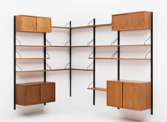Corner wall unit by Poul Cadovius, Denmark 1960
