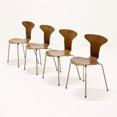 Model 3105 Munkegaard Dining Chairs by Arne Jacobsen for Fritz Hansen, 1954
