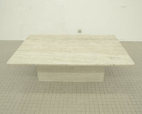 Large vintage Travertine coffee table, 1980s