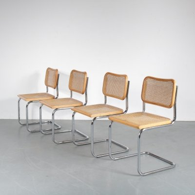 Set of 4 Cesca chairs by Marcel Breuer, Italy 1970s