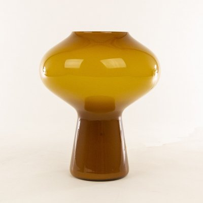 Hand-blown amber Fungo table lamp (medium) by Massimo Vignelli for Venini, 1950s