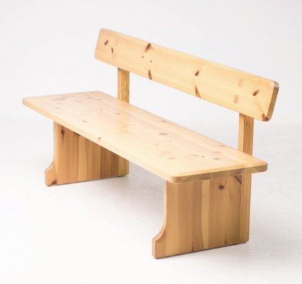 Solid pine bench by Carl Malmsten for Karl Andersson & Söner, 1960s