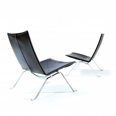 Pair of PK22 lounge chairs by Poul Kjærholm for Fritz Hansen, 1990s