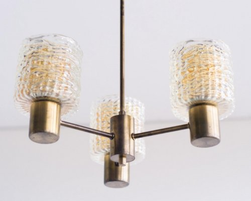 Carl Fagerlund Chandelier for Orrefors, 1960s