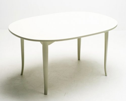 Carl Malmsten oval side table, 1950s