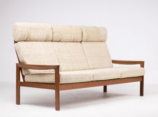 Arne Wahl Iversen for Komfort high back three seats sofa, 1960's