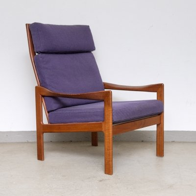 Highback Lounge Chair by Illum Wikkelsø for Niels Eilersen, 1960s