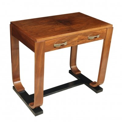 French Art Deco Walnut Writing Table
