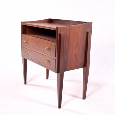 Mid Century Rosewood Nightstand by Frode Holm