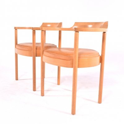 Midcentury Pair of Oak Armchair by Henning Jensen & Torben Valeur