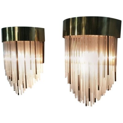 Pair of Italian Wall Sconces, 1970s
