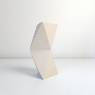 1980s Geometric abstract vase by D. vd Meijden