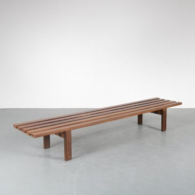 Dutch museum bench by Martin Visser for Spectrum, 1960s