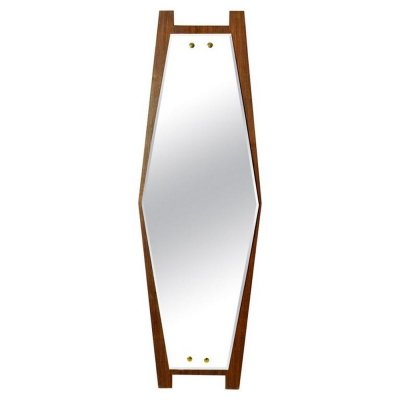 Italian Midcentury Hexagon Mirror