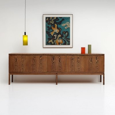 Highly decorative sideboard in wengé wood, 1970s