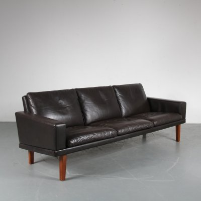 Dutch leather sofa by Bovenkamp, the Netherlands 1950s