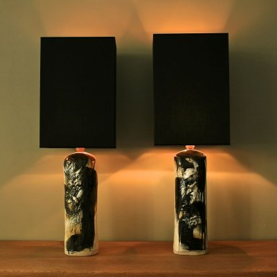 Pair of table lamps by Jeppe Hagedoorn Olsen, 1960s