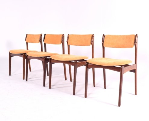Mid Century Danish Rosewood Dining Chairs by Erik Buch for OD Møbler