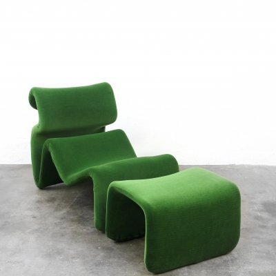 Et Cetera Easy Chair with footstool by Jan Ekselius for JOC Vetlanda, 1960s