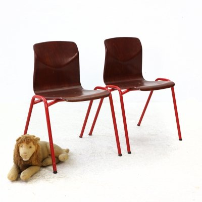2x Children's Thur-Op Chair with Red Base