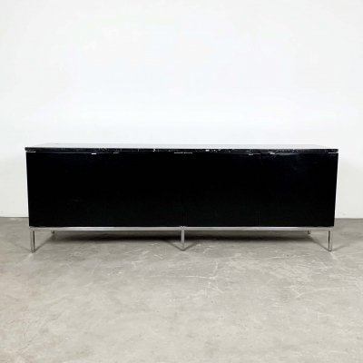 Black Marble Credenza Sideboard by Florence Knoll Bassett for Knoll