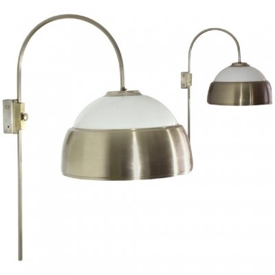 Pair of Italian Midcentury Adjustable Chrome Wall Lights, 1960s