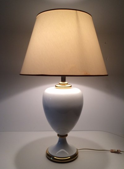 Hollywood Regency Ceramic Table lamp by Maison Le Dauphin, France 1980's