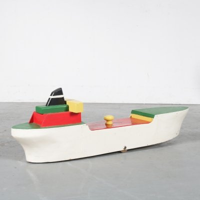 Wooden storage boat, the Netherlands 1950s