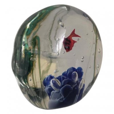20th Century Vintage Murano Aquarium Paperweight by Zanetti, 1970s