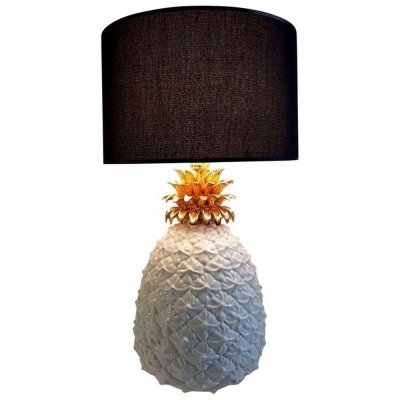 Pineapple Lamp in white & gold, 1970s