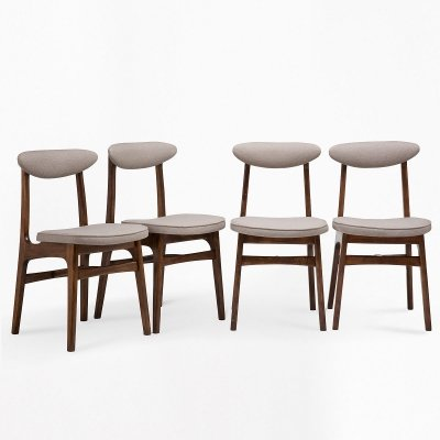 Set of 4 chairs by R.T.Hałas, 1960s