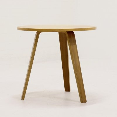 Mid Century Round Plywood Table by Cor Alons for Den Boer Gouda, 1950s
