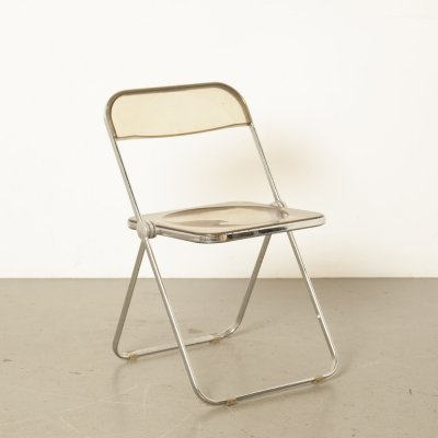 Plia folding chair in smoked acrylic by Giancarlo Piretti for Castelli