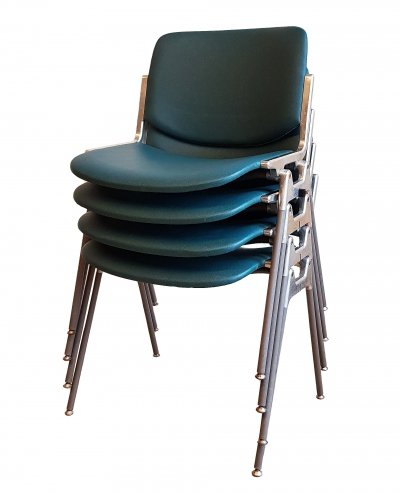 Set of 4 Chairs by Giancarlo Piretti for Castelli, 1970s